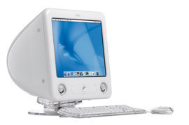 eMac mounted on eMac Stand