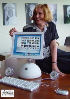 Susan with full iMac setup