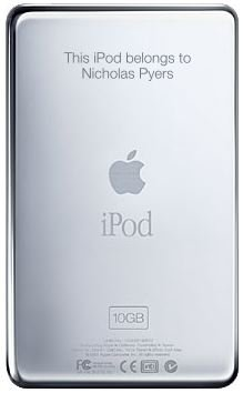 iPod with Engraving