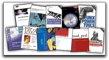 Selection of titles available from O'Reilly Network Safari Bookshelf