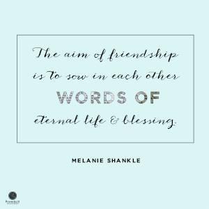 friendship — melanie shankle