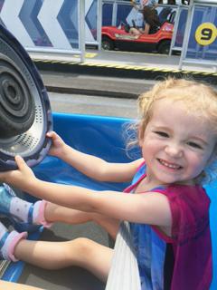 future Danica — cami drives race car