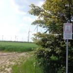 Windrad Warnschild