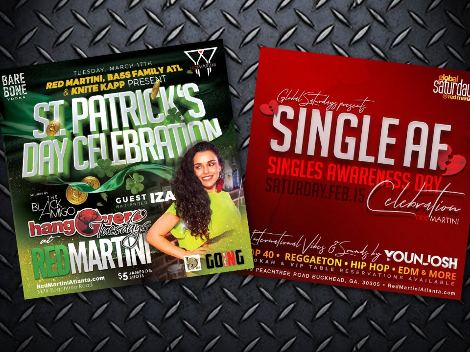 Red Martini Lounge - Flyer Design - Nightclub Flyer Design