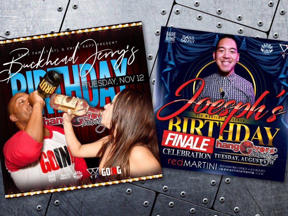 Red Martini Lounge - Birthday Flyer Design