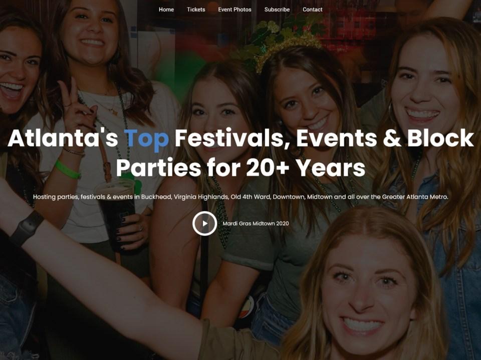 AtlantaBarTours.com Site Re-Design