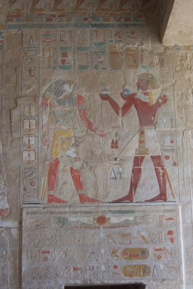 Coloured hieroglyphics at Hatshepsut