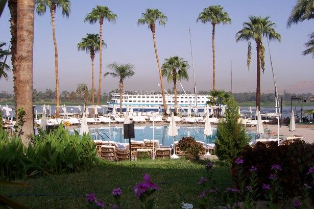 View of the Nile from Sheraton Hotel, Luxor.