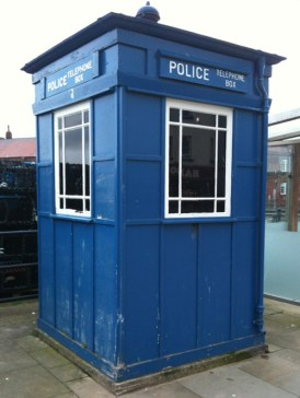 Even the Timelords were affected by austerity measures.  Old Police box at Scarborough Sea Front could do with a lick of paint.