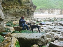 Sam and Nelson at Thornwick Bay