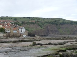 On the rocks at Robin Hood's Bay