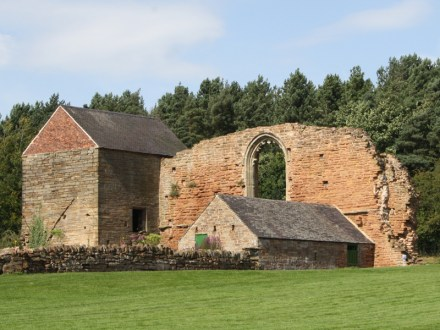 Structural remains of Beauvale Charterhouse