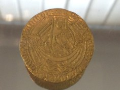 Henry V gold noble coin from Codnor Castle 1415-1420