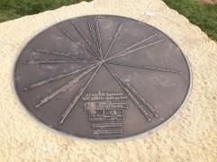 Waymarker stone on the Silverhill summit