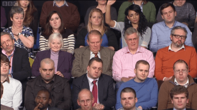 Clearly I am the most miserable man in the Question Time audience. Its just a look. One have obviously perfected.