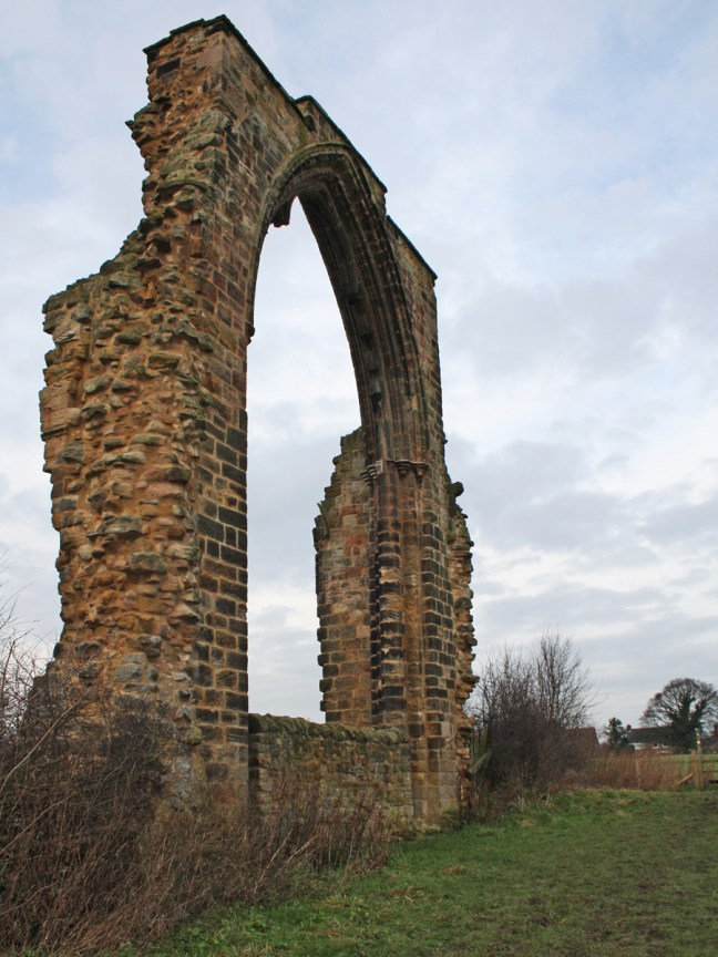 Dale Abbey east window ruins