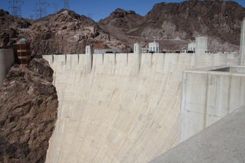 The dam wall