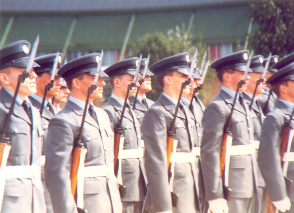 RAF Passing Out Parade atRAF Swinderby 10th August 1988.