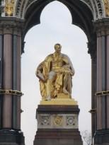 The Memorial statue of Albert in Kensington Gardens.