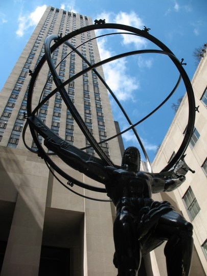 Atlas statue in front of Rockefeller Center