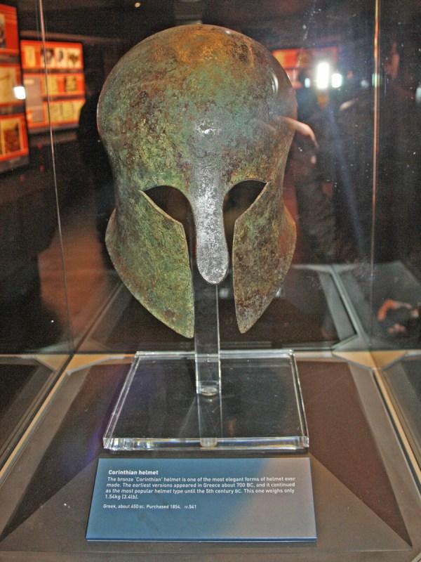 Corinthian (Greek) bronze helmet from 650 BC