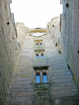 Looking up past the first portcullis.