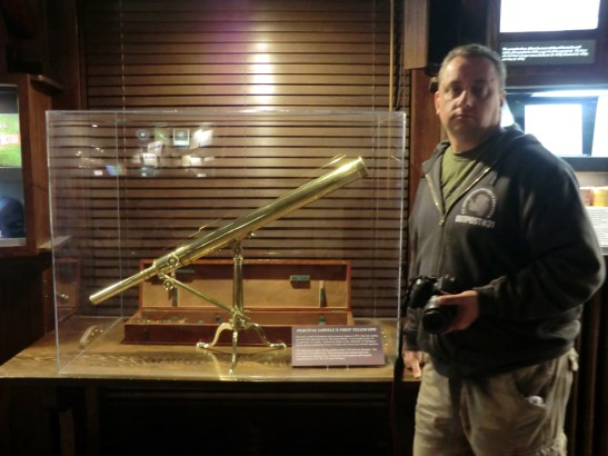 Percival Lowell's first telescope