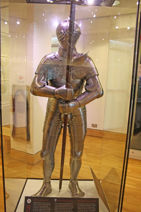 Henry VIII's foot combat armour which was originally to be worn at the Field of Cloth of Gold tournament in 1520, but a change of rules meant this was never used. However, it did come in handy for the space program when NASA examined this all enclosing armour when they were developing spacesuits.