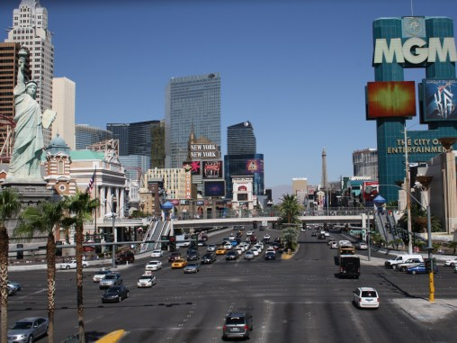 The Strip on Las Vegas Boulevard looking North