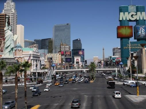 The Strip on Las Vegas Boulevard looking North