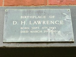 DH Lawrence birth plaque above the door