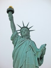 Close up view of Statue of Liberty on Liberty Island
