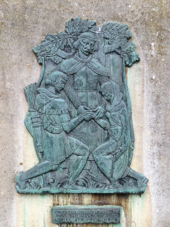 Richard the Lionheart marrying Robin Hood and Maid Marian.