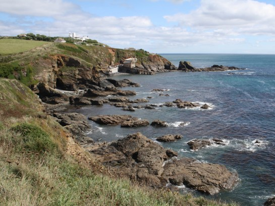 View towards Lizard Point and lighthouse.