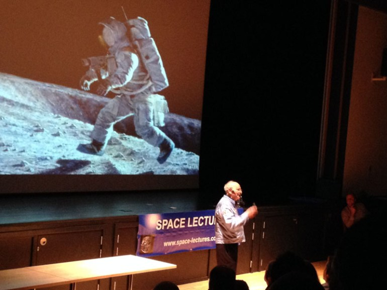 Alan Bean describing his first steps on the moon