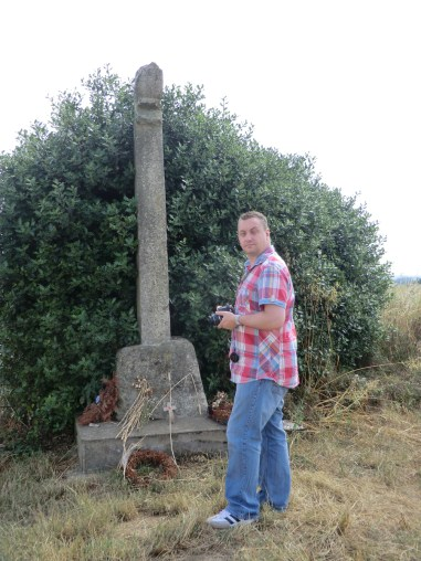 Nick Cook at the battle of Towton memorial