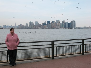 Sam with New York Skyline