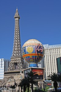 Paris hotel on the strip in Las Vegas.