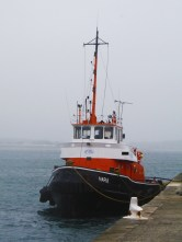 A boat in Penzance. Not a pirate ship. Well, I dont think it is.