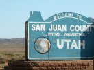 Nearing the way to Monument Valley, Welcome to Utah.