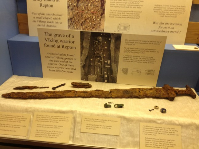 Viking sword from Repton at Derby museum