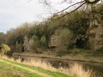 Creswell Crags limestone gorge
