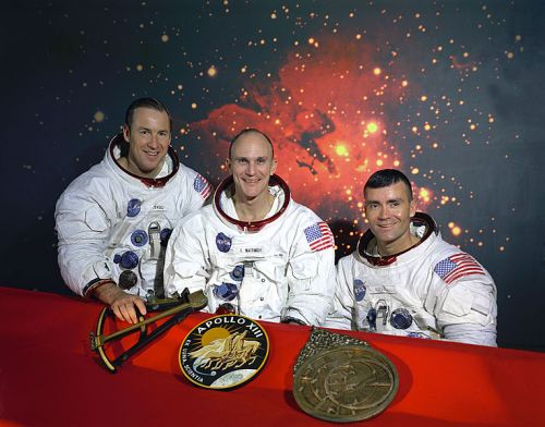 The original Apollo 13 crew of Lovell, Mattingly, Haise.