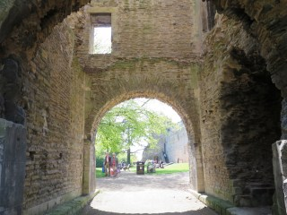 Inside the gatehouse at newark Castle