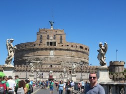 The papal stronghold of Castel Sant'Angelo at the Vatican.