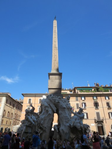 Fountain of the Four Rivers on Piazza Navona.