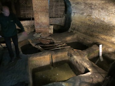 Nottingham's City of Caves Medieval Tannery. The perfect place for a peasant when he hasn't' got a pot to piss in.