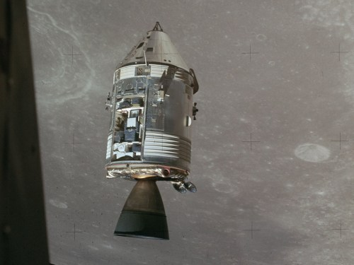 Endeavour in lunar orbit.