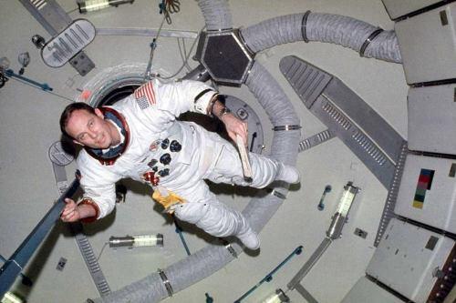 Jack Lousma aboard Skylab 3