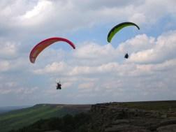 Stanage Edge gliders.